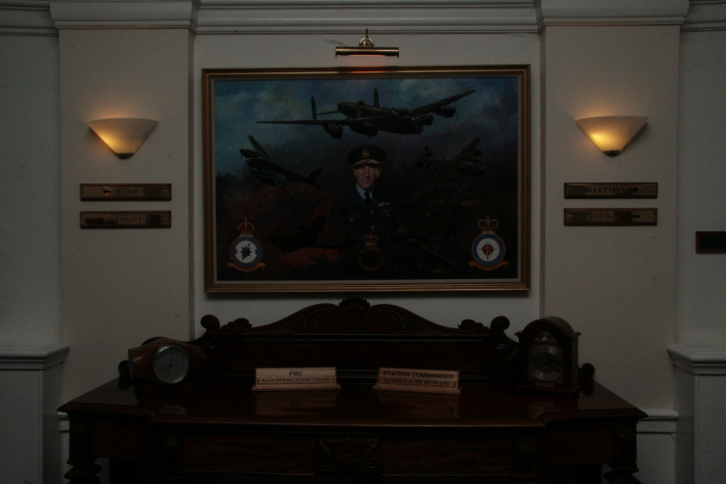 The entrance to the Officers Mess, RAF Wyton   May 2012